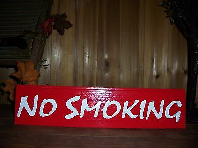 No Smoking Painted Sign For Business Home Office Bar Pub Restaurant  Casino Fun