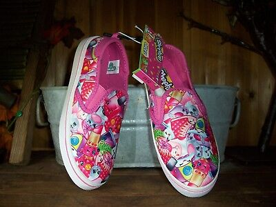 Shopkins Girls Casual Shoes Size 1 Color Pink Kids Cartoon Apparel Slippers New