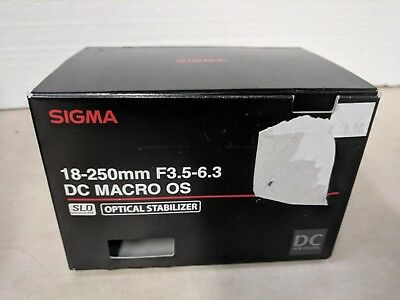 Sigma 18-250mm f3.5-6.3 DC MACRO OS HSM Zoom Lens f/Canon EOS #883101 AS IS