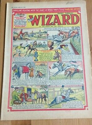 March 29th 1958 : The Wizard Comic : FREEPOST The Grand National Cover