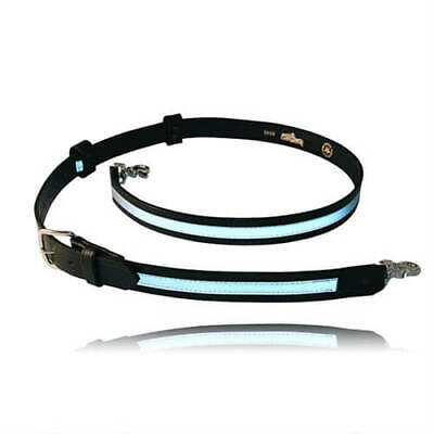 Boston Leather Firefighter's Radio Strap 6543R-1 New Reflective