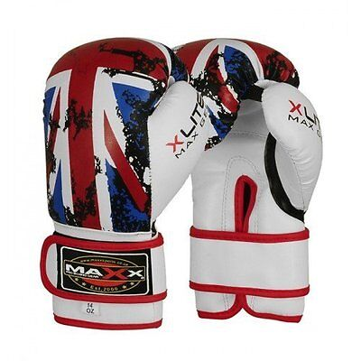 Maxx  Leather Boxing Gloves,MMA,Sparring Punch Bag,Muay Thai Training Gloves Pad