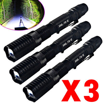Tactical Police 150000Lumens T6 18650 LED Flashlight Aluminum Torch Zoomable USA