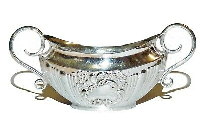 Antique Sterling Silver Ornate Patterned Sauce Dish - Sheffield 1899