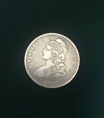 1836 Capped Bust Silver Half Dollar VF
