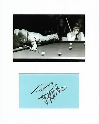 Snooker Terry Griffiths genuine authentic autograph signature AFTAL COA