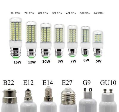 E27 E14 E12 LED Corn Bulb 5730 SMD Light Corn Lamp Incandescent 5W 6W 7W 8W 15W