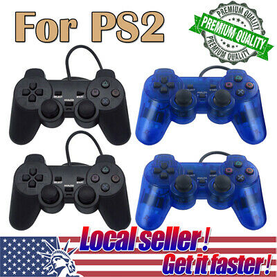 US SHIP 2Pack Twin Shock Game Controller Joypad Pad for Sony PS2 Playstation 2 x