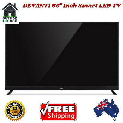 65 Inch Devanti TV UHD Thin Smart 4k HDR LED LCD LG Screen Netflix Slim Black
