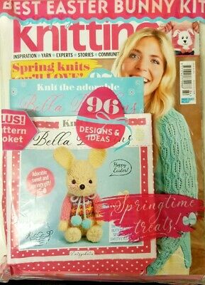Simply Knitting Magazine 2019 # 184 =Free Best Easter Bunny Kit = 96 Ideas