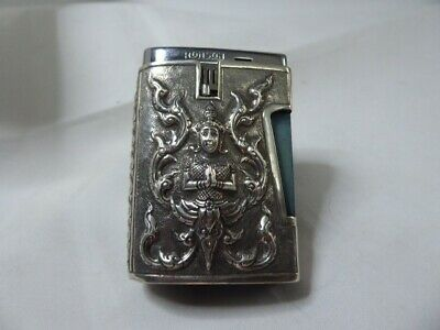 Ronson Comet Lighter With Sterling Silver Siam Cover