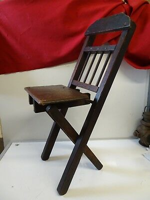 Antique Small Folding Chapel Chair / Spinners Chair