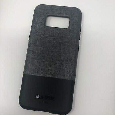 0faf9e4336 Samsung Galaxy S8 Case Jack Spade Color Block Tech Oxford Gray Black New