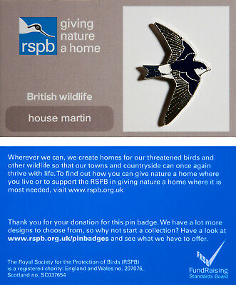 RSPB Pin Badge | house martin GNAH (01263)