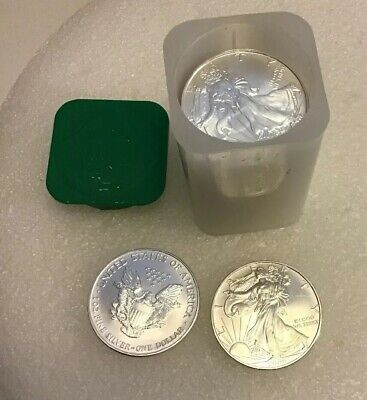 Roll of 20 - 2006 1 oz Silver American Eagle $1 Coin BU (Lot, Tube of 20)