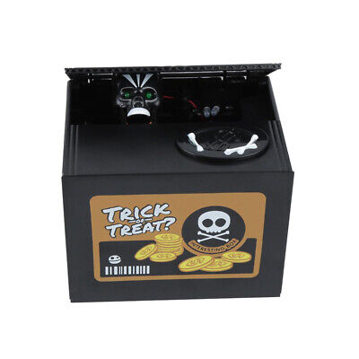 Automated Ghost Skull Skeleton Stealing Money Saving Box Coin Piggy Bank Gift