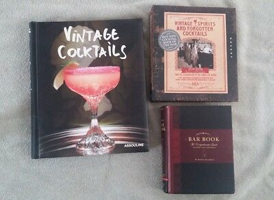 VINTAGE COCKTAILS ASSOULINE, Ultimate Bar book, vintage spirits forgotten  (296)