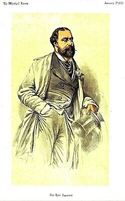The Heir Apparent  (Prince of Wales later Edward VII) Lithograph by Mathews 1878