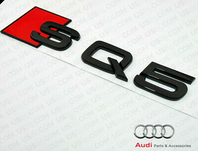 Audi SQ5 Rear Boot Badge Trunk Emblem Sticker Logo Lettering Gloss Black AU11