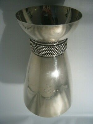 Antique Beautiful Tiffany & Co.Sterling Silver Vase With Silver Pearls Ring Top