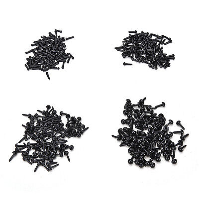 100Pcs Black Plastic Safety Eyes Toy for Doll Animal Making Craft DIUK
