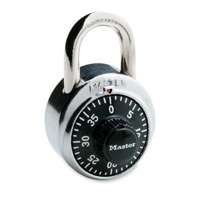 """Brand New! Master Combination Lock, Stainless Steel, 1-7/8"""", Black Dial MLK1500D"""