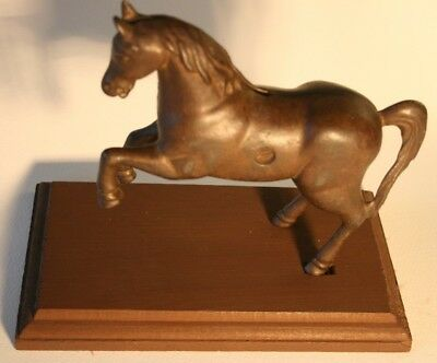 Antique Cast Iron Rearing-Up Pony Coin Bank