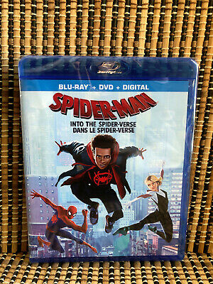 Spider-Man: Into the Spider-Verse (2-Disc Blu-ray/DVD, 2019)Marvel/Animated