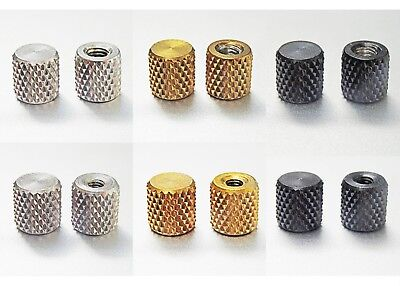 Knurled stainless steel thumb nuts, closed end, M4, M3, black, gold, silver,
