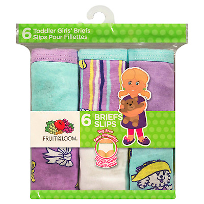 Fruit of the Loom Girls' Assorted Cotton Briefs - Pack of 6