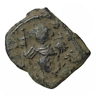 Ancient Byzantine Empire Coin AE Follis 6th-7th Centuries AD