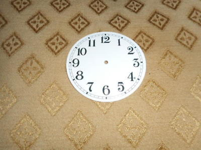 "Round Paper Clock Dial-2 1/2"" M/T-Arabic-GLOSS WHITE-Face/ Clock Parts/Spares #"