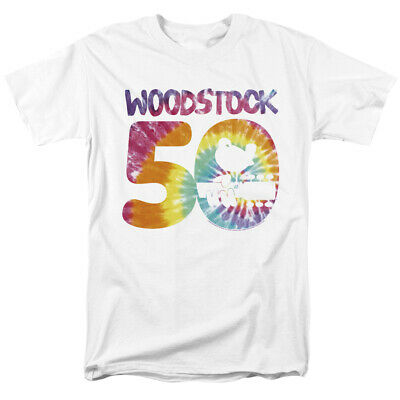 fb1b1f3445 WOODSTOCK 50TH ANNIVERSARY Logo Officially Licensed Adult T-Shirt ...