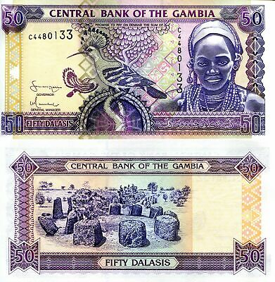 GAMBIA 10 DALASI Banknote World Paper Money UNC Currency
