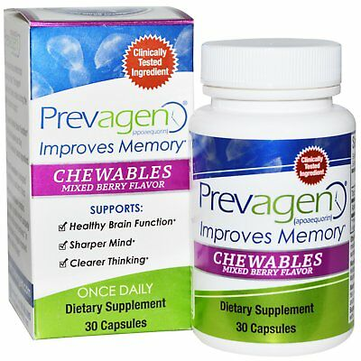 Prevagen Chewables Improves Memory 30 Capsules each (pack of 6) FREE SHIPPING