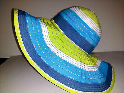 5a16e005f5bcb PANAMA JACK Hat Wide Brim Sun Hat Womens One Size Packable Multi Colored  NEW NWT