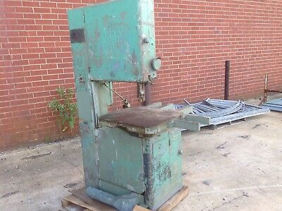 """Grob 24"""" Vertical Bandsaw Has Been Used For Cutting Wood"""