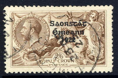 Ireland 1925-28 Narrow Date Seahorse 2/6D Chocolate-Brown Fine Cds Used. Sg 83.