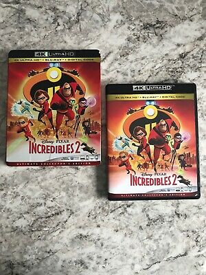 Disney Pixar Incredibles 2 W/ Slipcover (4K Ultra HD + Blu-ray) No Digital