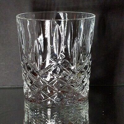 "WATERFORD Marquis Lead Crystal Markham Double Old-Fashioned Glass 3 3/4"" 11 OZ"