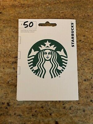 $50 Starbucks Coffee Gift Card - NEW - ACTIVATED - BUY IT NOW - FREE SHIPPING