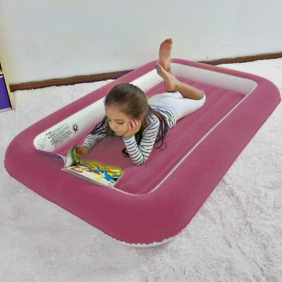 Junior Airbed Airlock Kids Inflatable Child Kiddy Air bed with Safe bumper sides