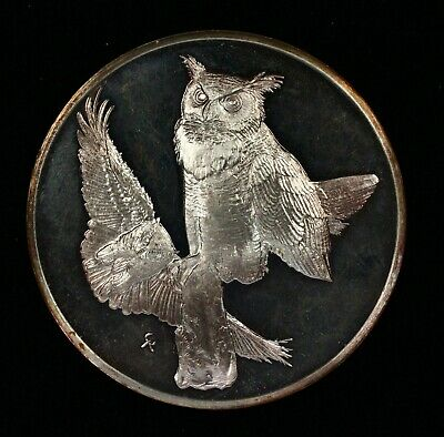 Great Horned Owl No.1 Proof Round Wild Life Society of America 2 oz Silver Round