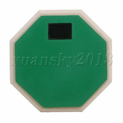 6Inch Green Rubber Wood Drum Pad Base Double Sided Soft Practice