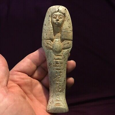 Very rare ancient Quality Egyptian shabti Heavy Polished Stone 300 600 BC.