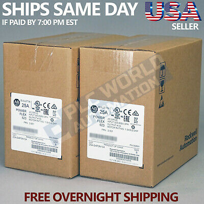 2019 New Factory Sealed Allen Bradley 25A-D4P0N104 /a Ac Drive Free Next Day Air