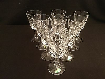 Set Of 9 Waterford Crystal Rosslare Claret Wine Glasses 6 With Stickers