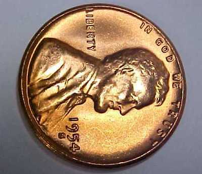 1954-S Lincoln Cent *Super Gem Uncirculated *Pure Orange Color *Make An Offer*