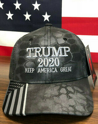 Trump 2020 American Flag Kryptek Typhon Hat Keep America Great MAGA Camo Cap