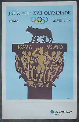 Poster Plakat Armando Testa (1917-1992) signed in the plate Olympiade Roma 1960